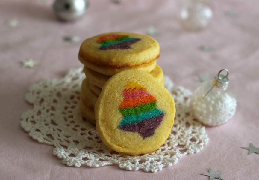 Sablés rainbow