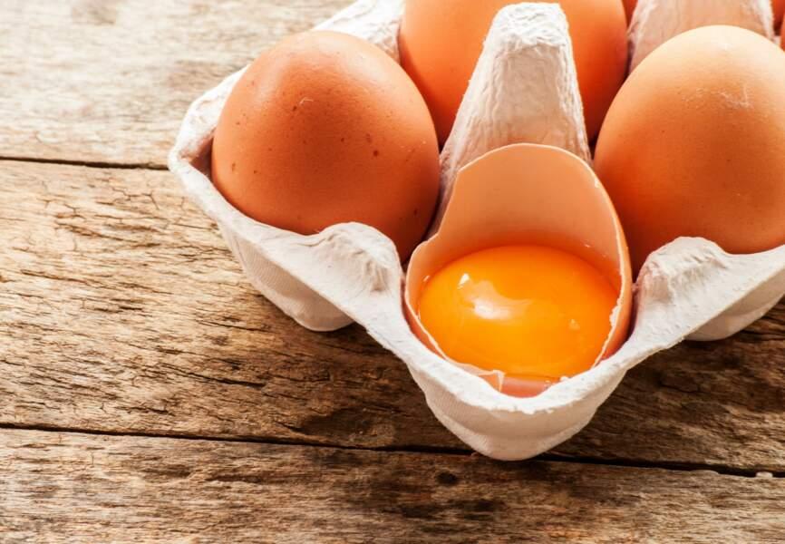 Aliment orange : le jaune d'œuf bio, le bouclier oculaire