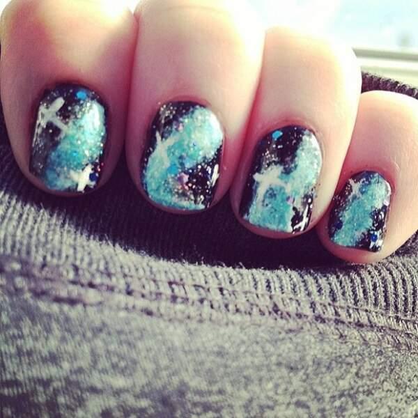 Nail Art Voie Lactée