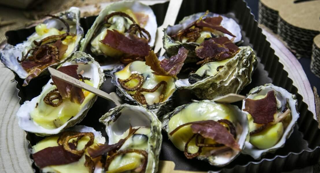 Huîtres façon raclette