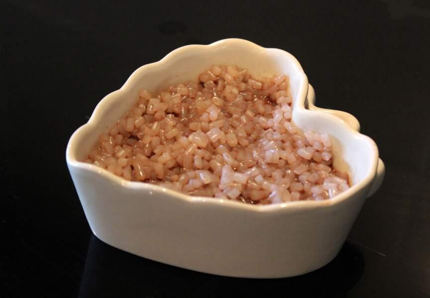 Gâteau de riz de konjac aux amandes