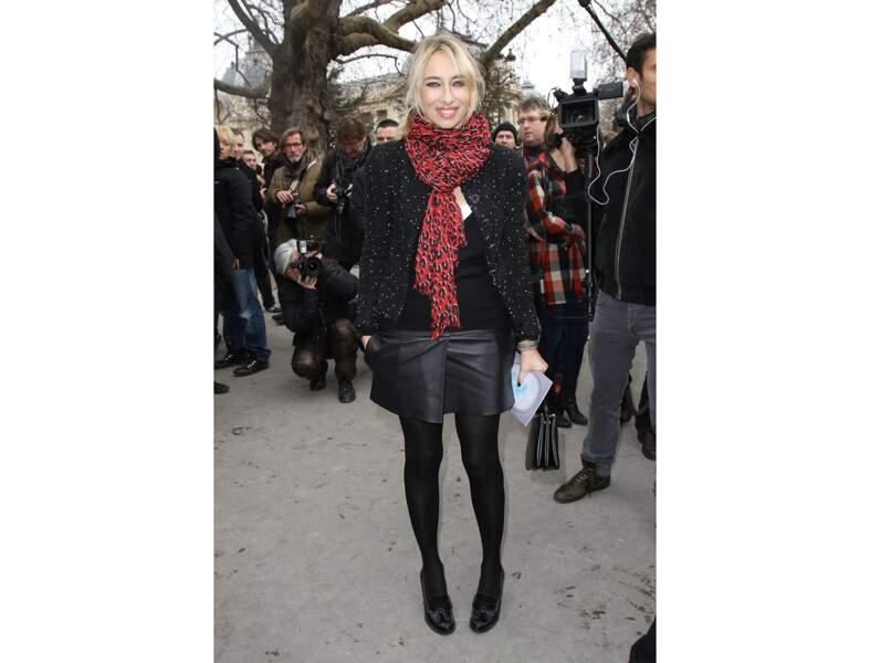 Alexandra Golovanoff : la jupe en (faux) cuir