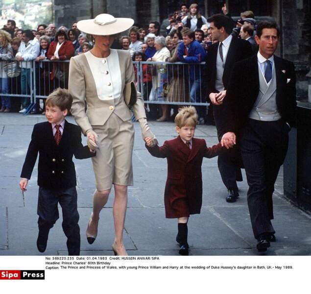 William, Diana, Harry et Charles