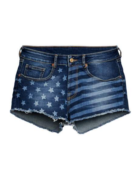 Total denim : le short patriote