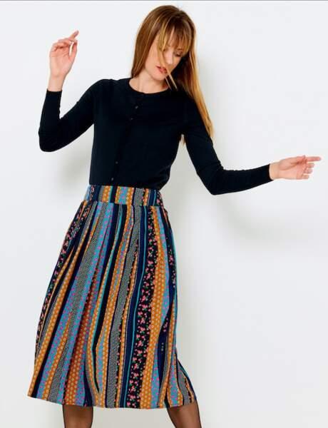 La jupe multicolore