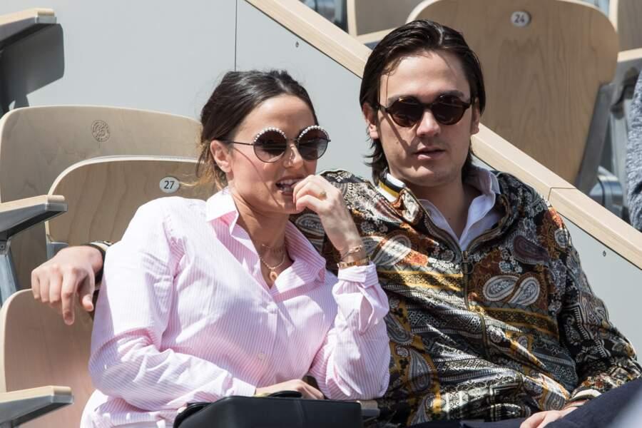 Capucine Anav et Alain-Fabien Delon fous amoureux à Roland-Garros