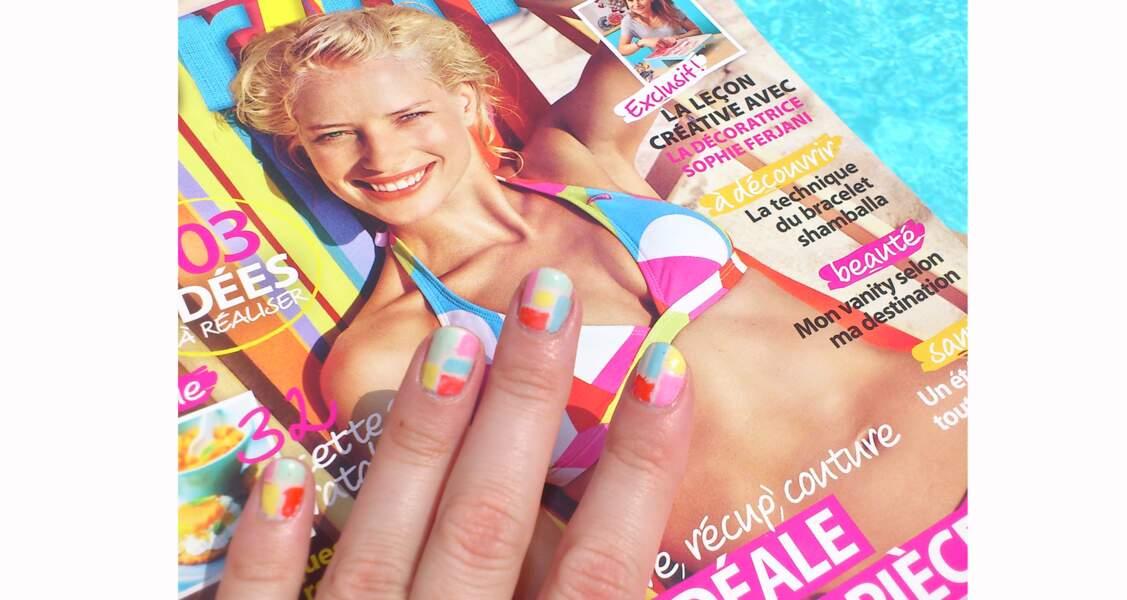 """Coup de coeur du jury : le nail art inspiration """"arlequin"""""""