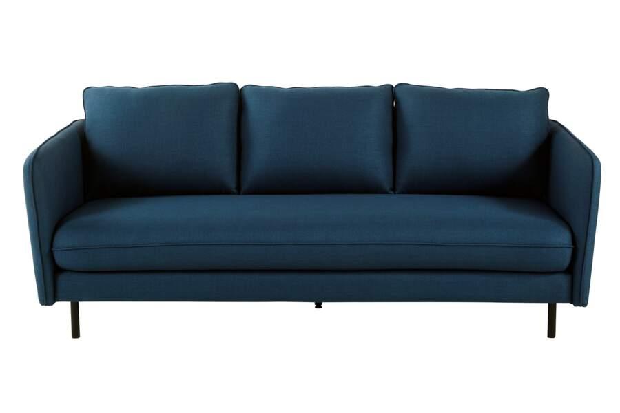 Canapé 3 places bleu