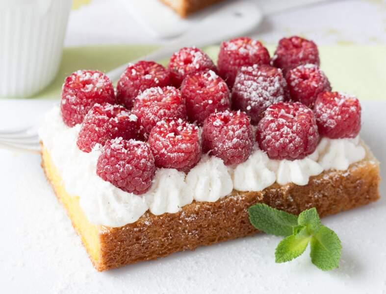 Tarte sans cuisson framboise – menthe