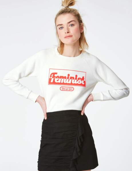 Mode à message : le sweat junior
