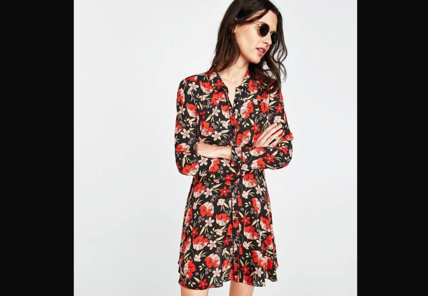 Nouveautés Zara: la robe à fleurs