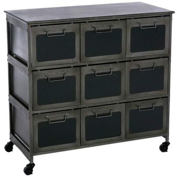 Commode 9 tiroirs en métal