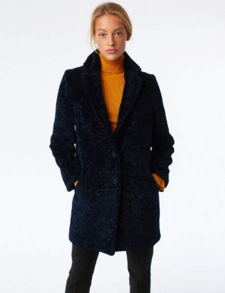 Manteau fluffy : in the navy