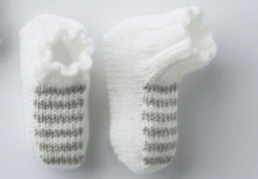 Des chaussons rayés