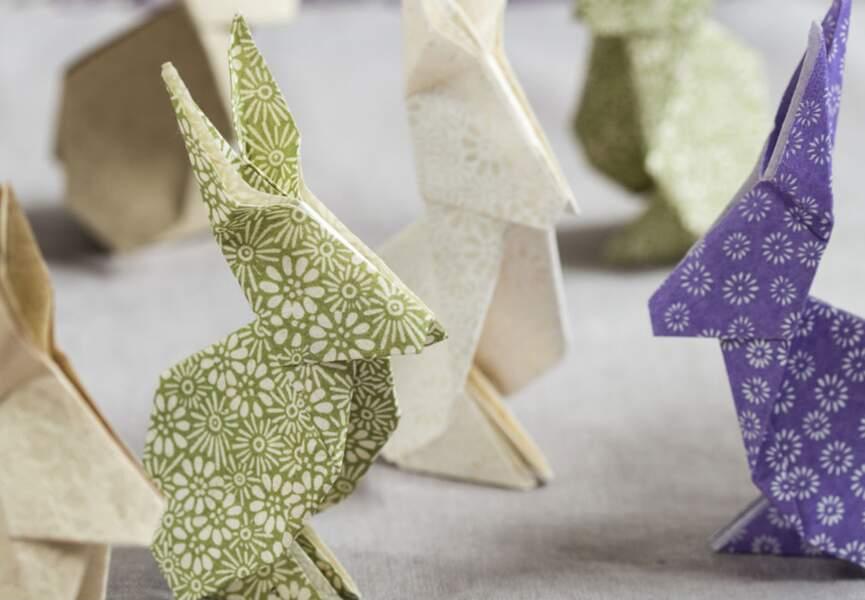 Des lapins en origami