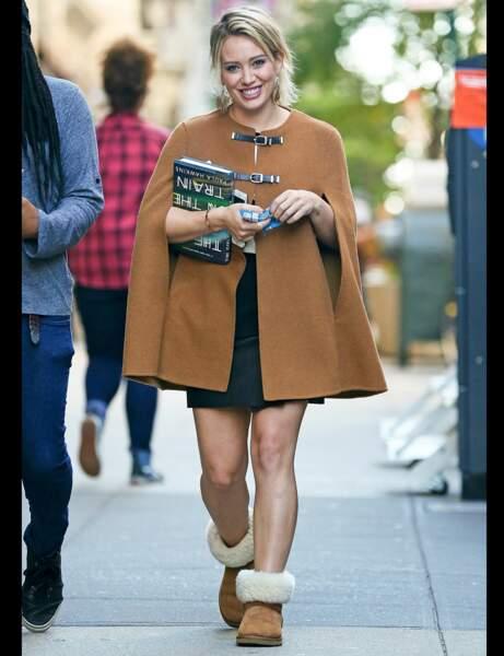 Les bottines fourrées d'Hilary Duff