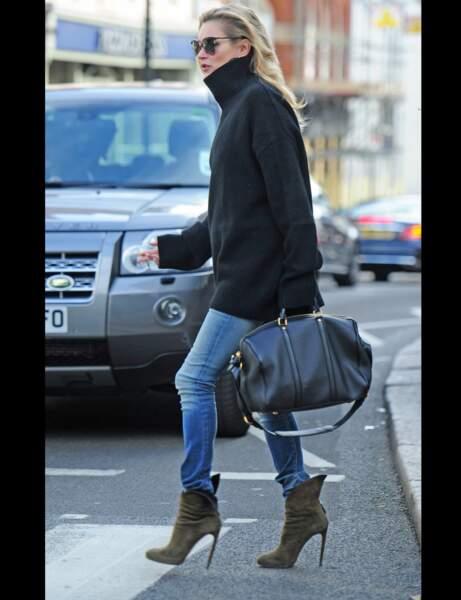 Kate Moss et son jean skinny