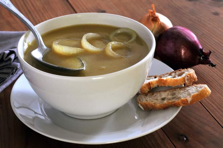 Soupe à l'oignon light