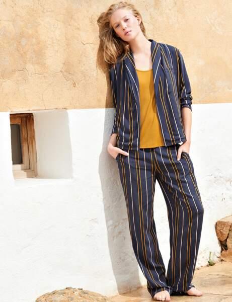 Rayures : le look pyjama
