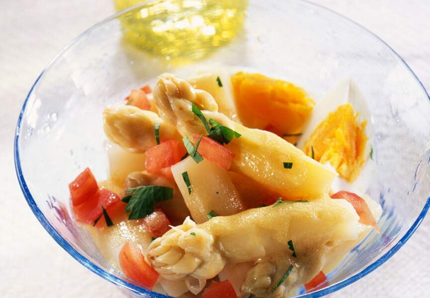 Salade aux asperges blanches