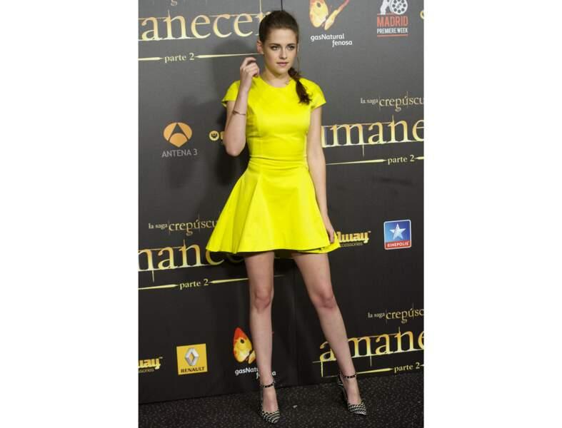 Le jaune citron comme Kristen Stewart