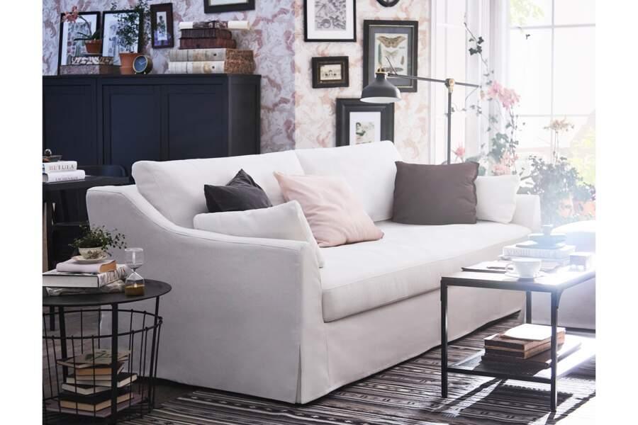 Canapé 3 places blanc