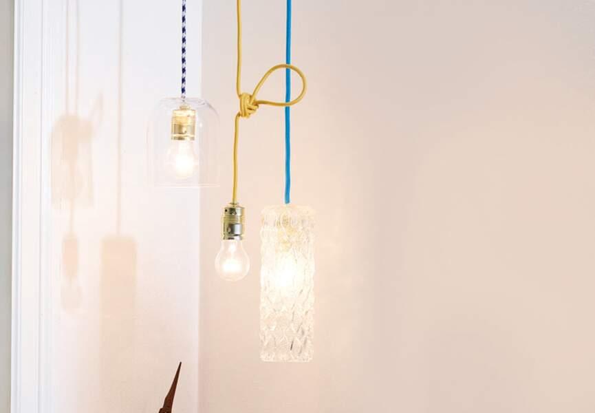 Une lampe en bouteille