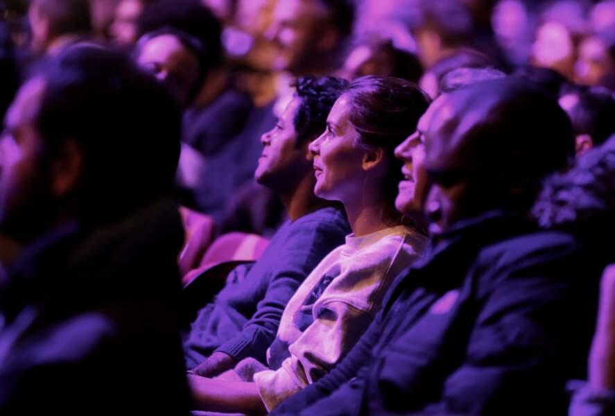 Le couple très amoureux lors de la Cérémonie d'ouverture du Festival du film de comédie à l'Alpe d'Huez en 2017