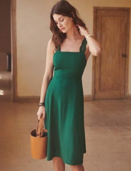 Tenue de cérémonie : la robe rétro à dos-nu