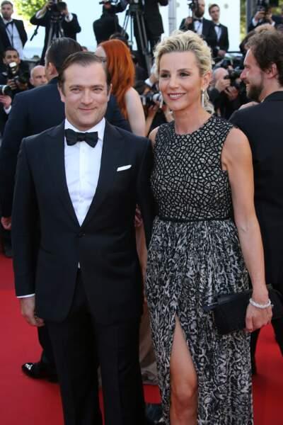 Laurence Ferrari et Renaud Capuçon lors du 69ème festival du film à Cannes (2016)