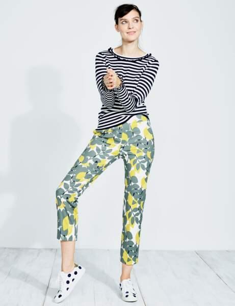 Pantalon : fleuri