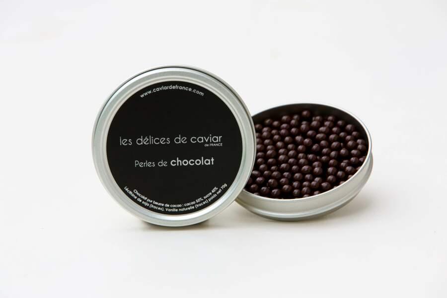 Perles de chocolat façon caviar