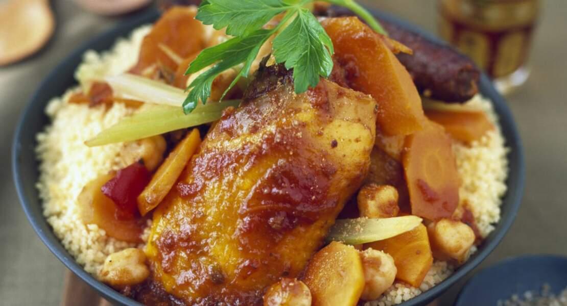 Couscous poulet merguez traditionnel