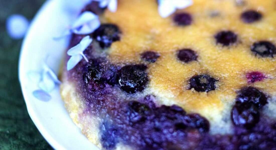 Gâteau de semoule aux myrtilles