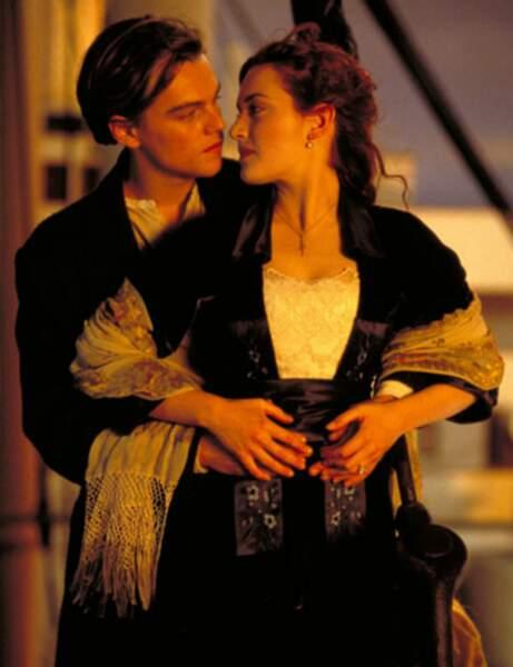 Rose et Jack dans Titanic, alias Kate Winslet et Leonardo DiCaprio