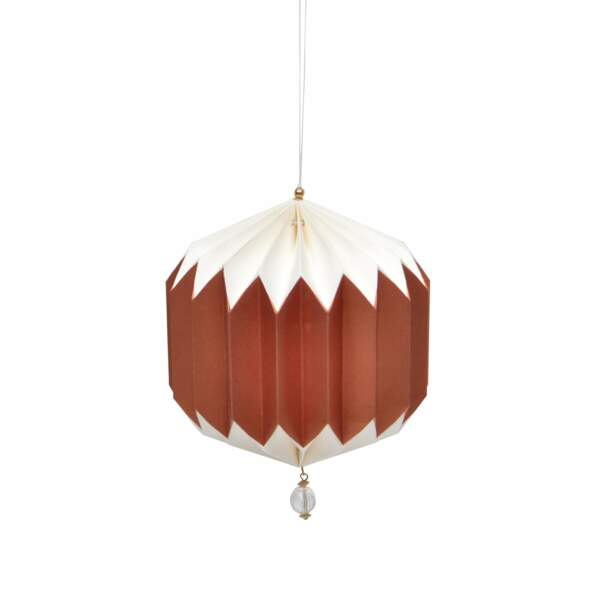 Suspension façon lampe chinoise