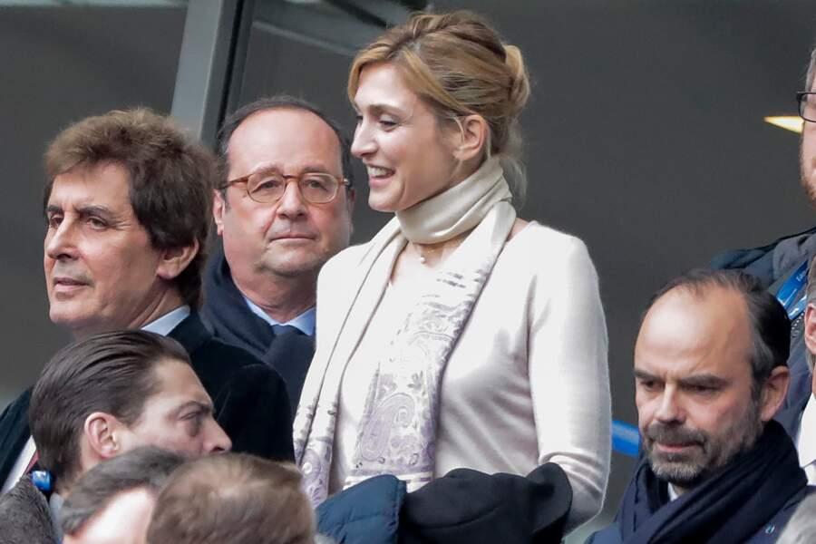 François Hollande et Julie Gayet aux côtés du Premier ministre, Edouard Philippe