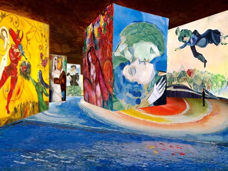 Aux Baux-de-Provence, les oeuvres de Chagall aux carrières de l'image