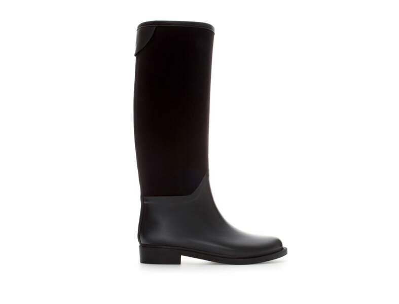 Pour être dans la tendance : bottes cavalières Zara