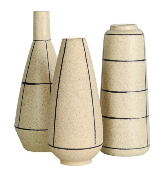Vases en grès