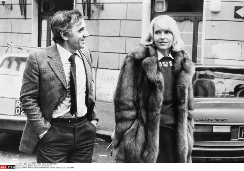 Charles Aznavour et sa femme Ulla Thorsel