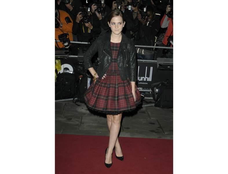 La robe tartan par Emma Watson