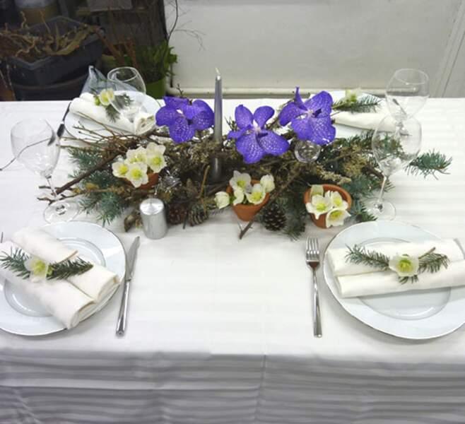 Une table de Noël simple et très nature