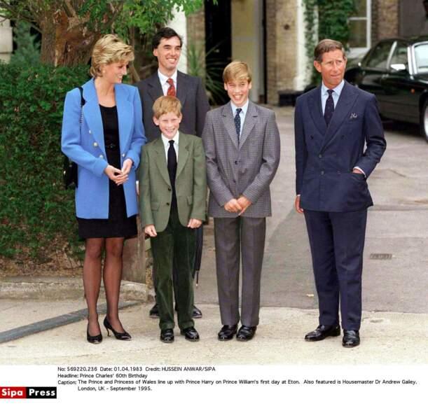 Diana, Harry, William et Charles
