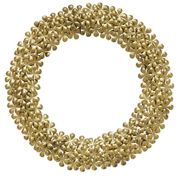 Couronne de Noël en métal doré