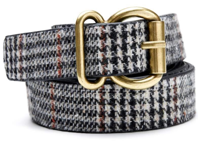 Tendance motif Prince de Galles : la ceinture