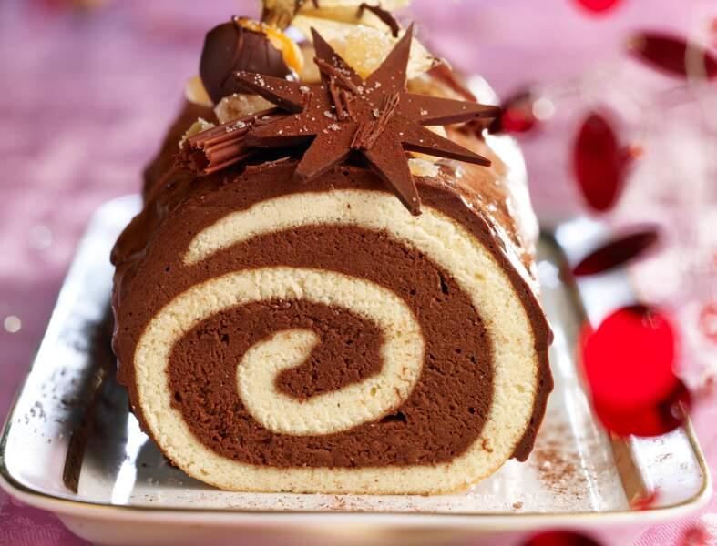 Bûche chocolat-gingembre