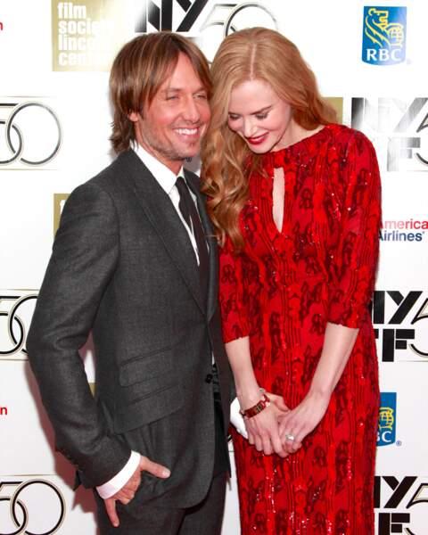 Nicole Kidman et Keith Urban à la soirée annuelle du New York Film Festival le 3 octobre 2012.
