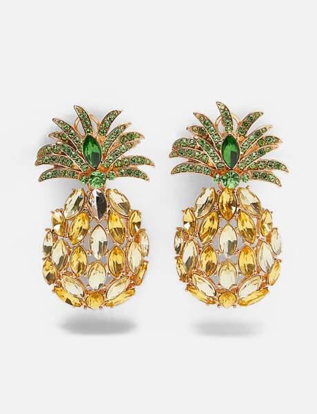 Zara: les boucles d'oreilles ananas