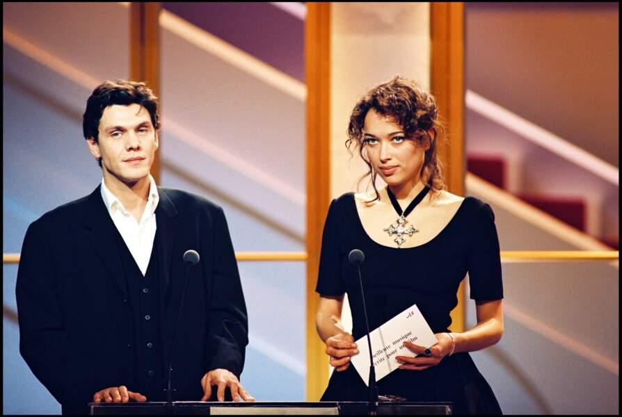 Marc Lavoine et Carmen Chaplin à la cérémonie des César en mars 1994.